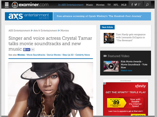 Crystal Tamar Interview by Examiner.com