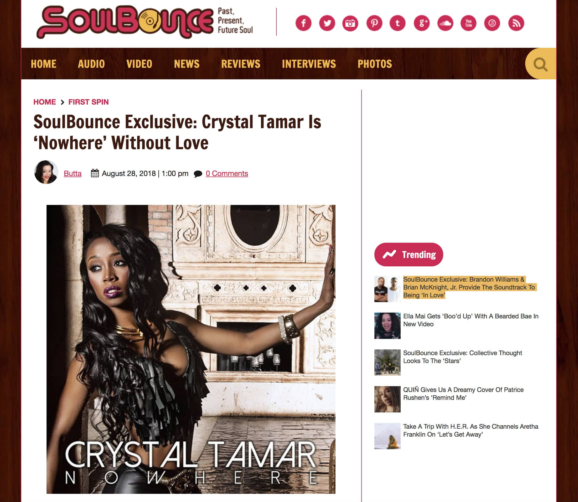 SoulBounce Exclusive - Nowhere by Crystal Tamar