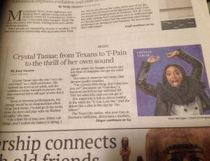 Crystal Tamar in the Houston Chronicle